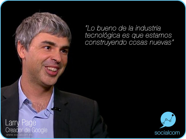 Larry Page (creador de Google) - por Socialcom Estrategia en Redes Sociales y Comunicación S.L.